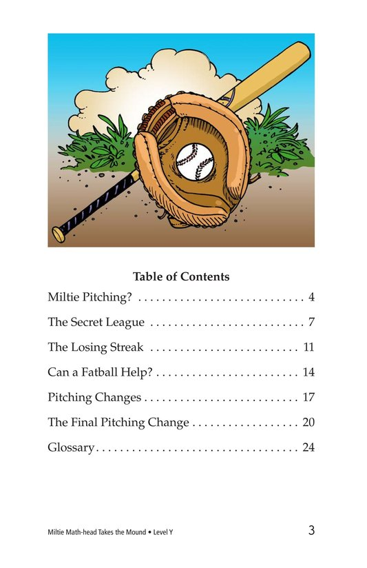 Book Preview For Miltie Math-head Takes the Mound Page 3
