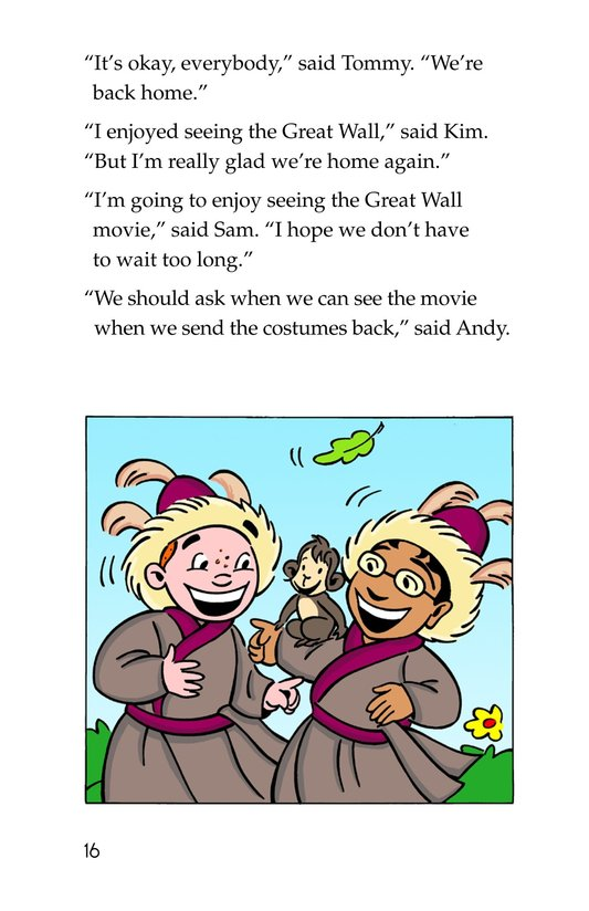 Book Preview For Tommy and the Great Wall Page 16