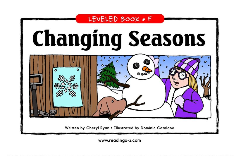 Book Preview For Changing Seasons Page 1