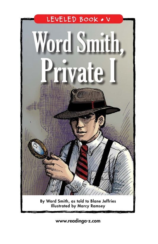Book Preview For Word Smith, Private I Page 1