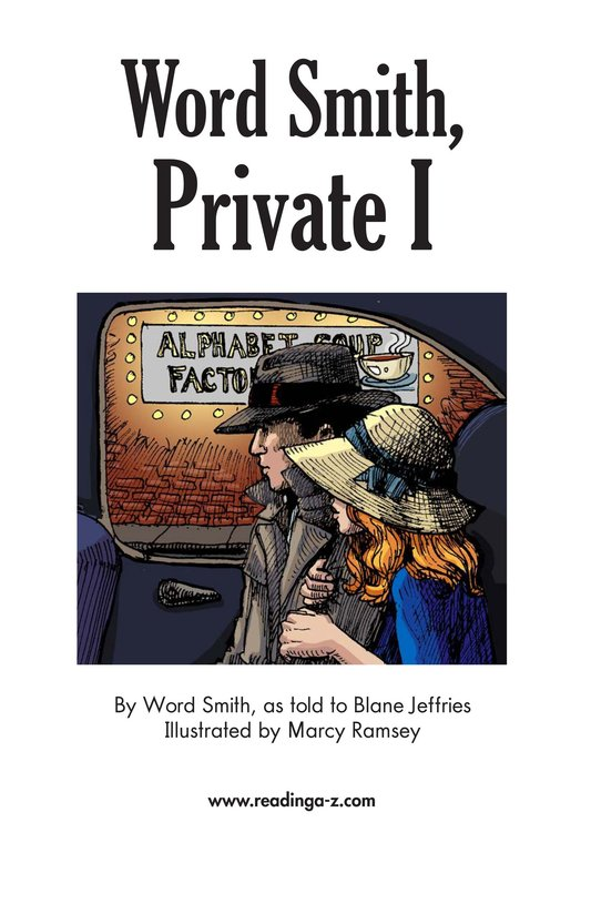 Book Preview For Word Smith, Private I Page 2
