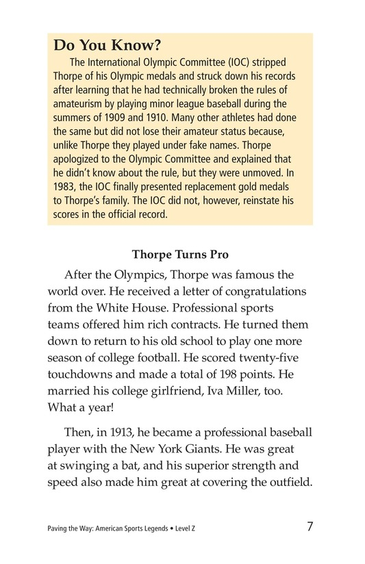 Book Preview For American Sports Legends Page 7