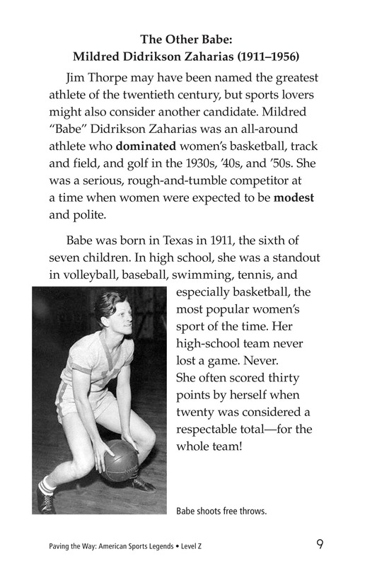 Book Preview For American Sports Legends Page 9