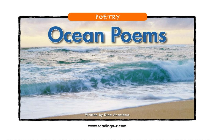 Book Preview For Ocean Poems Page 1