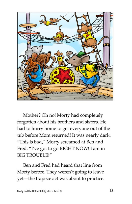 Book Preview For Morty and the Oatmeal Babysitter Page 13