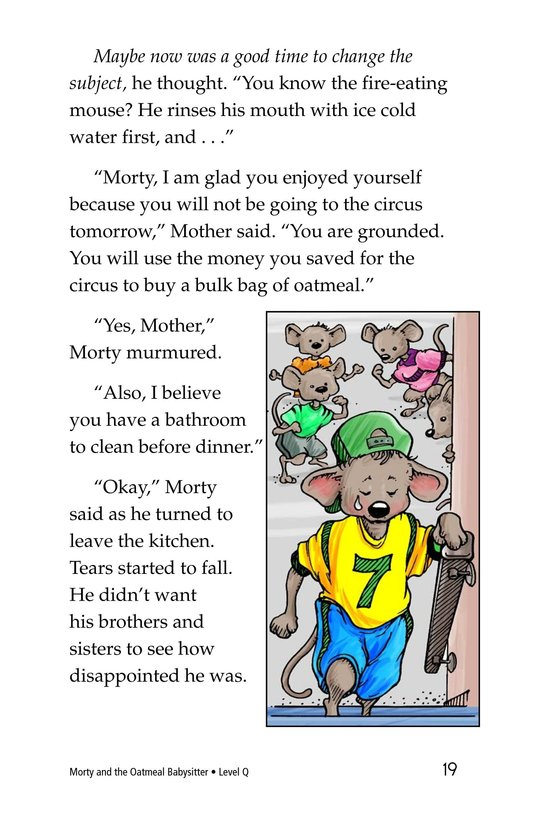 Book Preview For Morty and the Oatmeal Babysitter Page 19
