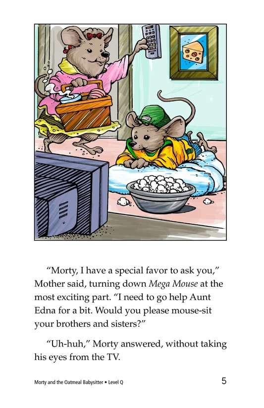 Book Preview For Morty and the Oatmeal Babysitter Page 5