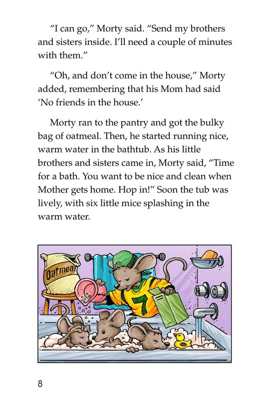 Book Preview For Morty and the Oatmeal Babysitter Page 8