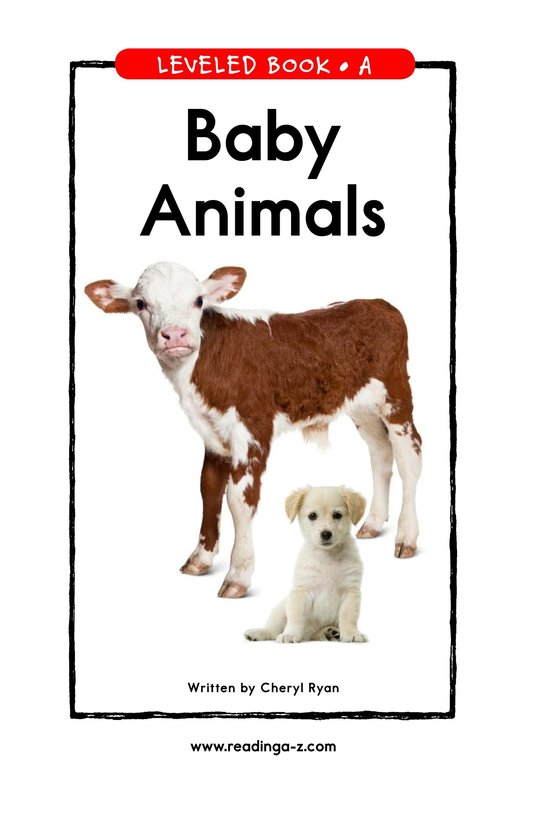 Book Preview For Baby Animals Page 1