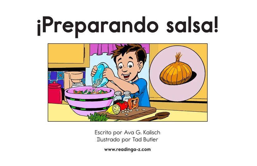 Book Preview For Making Salsa! Page 2