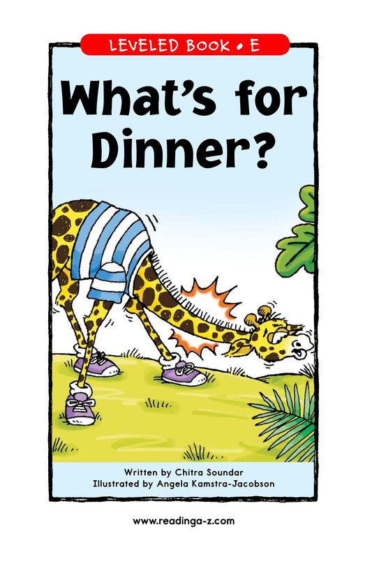 Book Preview For What's for Dinner? Page 1