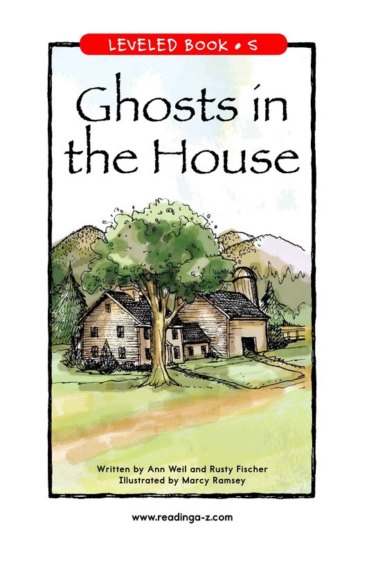 Book Preview For Ghosts in the House Page 1