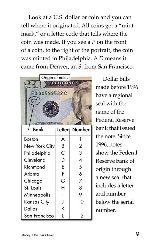 Book Preview For Money in the USA Page 9