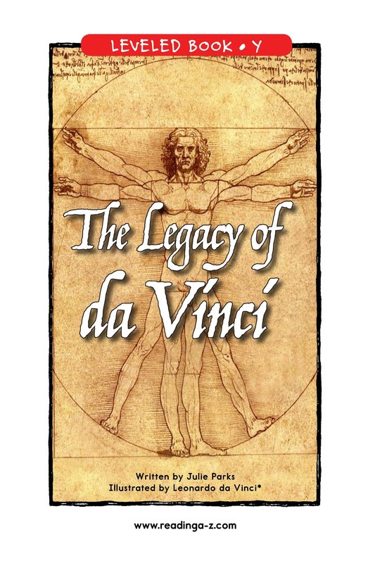 Book Preview For The Legacy of da Vinci Page 1