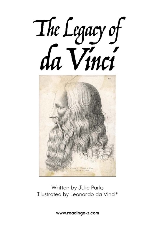 Book Preview For The Legacy of da Vinci Page 2
