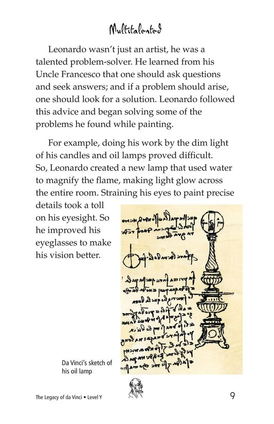 Book Preview For The Legacy of da Vinci Page 9