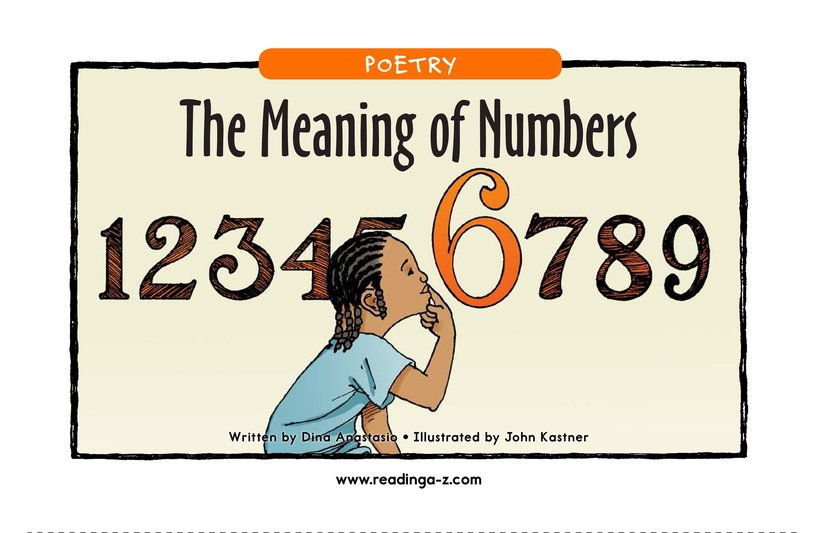 Book Preview For The Meaning of Numbers Page 1