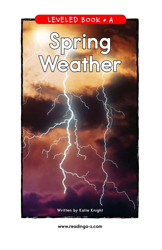Book Preview For Spring Weather Page 1