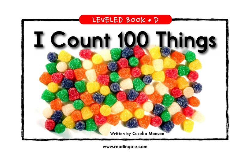 Book Preview For I Count 100 Things Page 1
