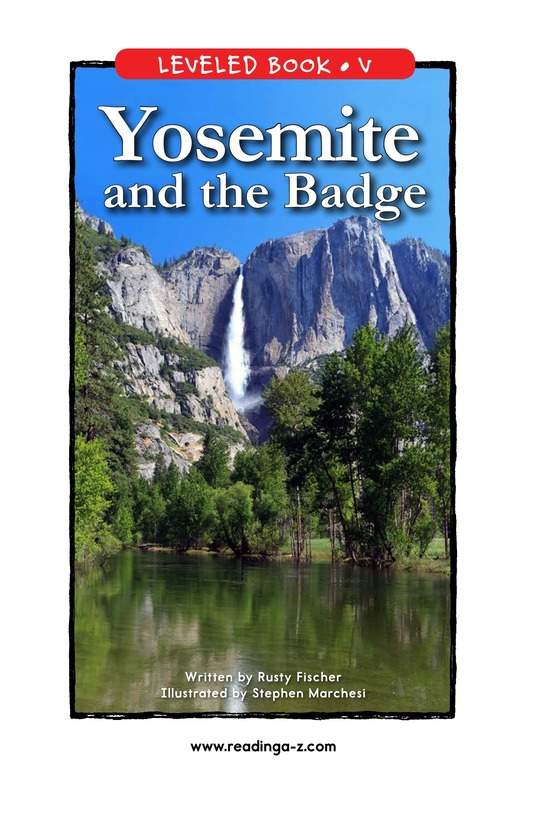 Book Preview For Yosemite and the Badge Page 1