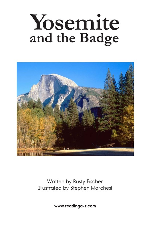 Book Preview For Yosemite and the Badge Page 2