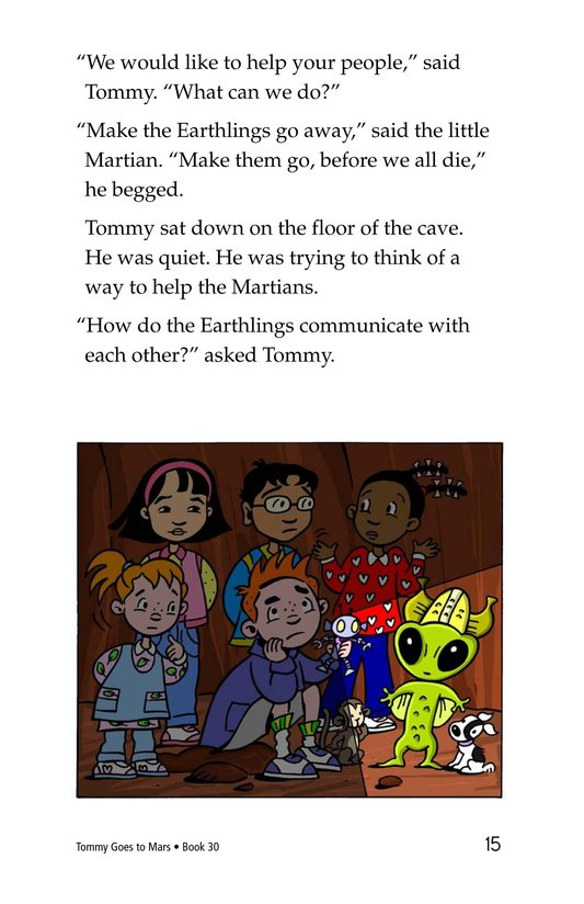 Book Preview For Tommy Goes to Mars Page 15