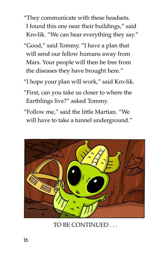Book Preview For Tommy Goes to Mars Page 16