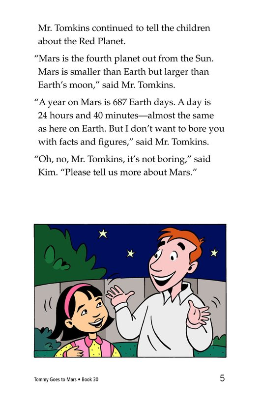 Book Preview For Tommy Goes to Mars Page 5