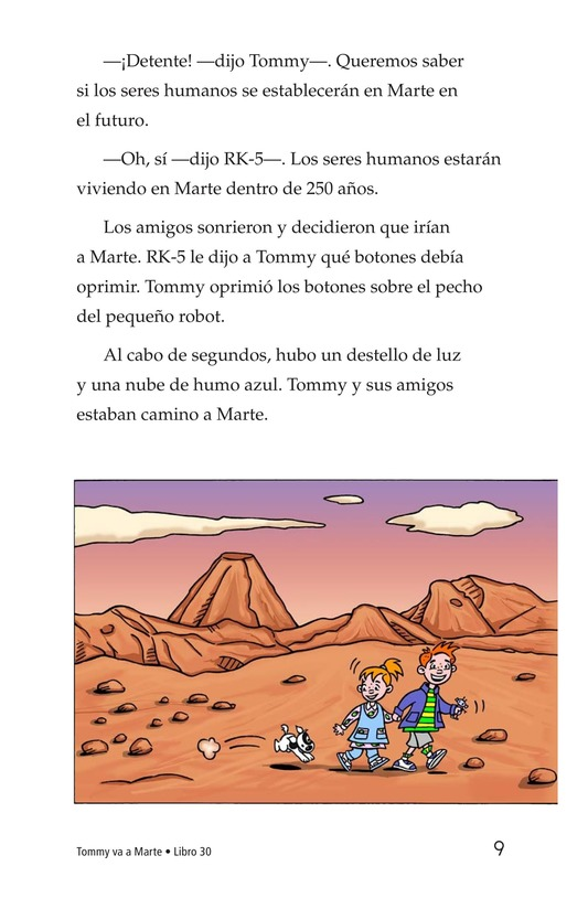 Book Preview For Tommy Goes to Mars Page 9