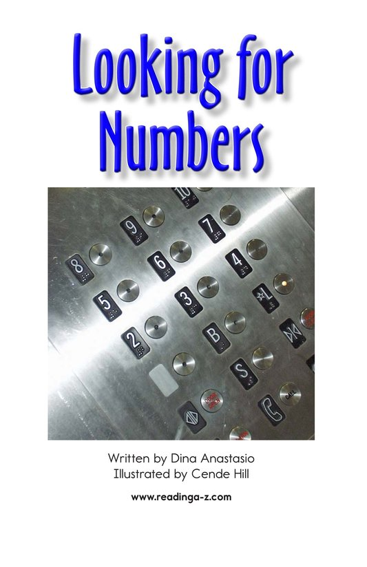 Book Preview For Looking for Numbers Page 2