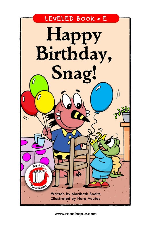 Book Preview For Happy Birthday, Snag! Page 1