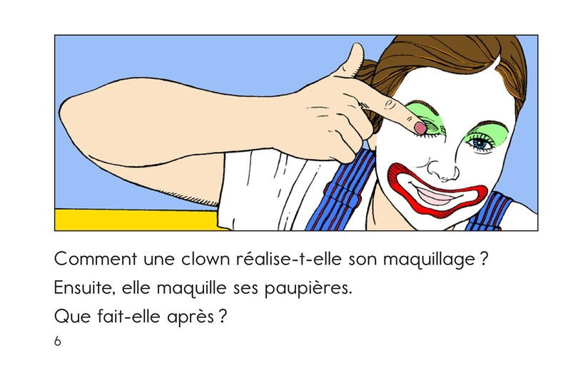 Book Preview For A Clown Face Page 6