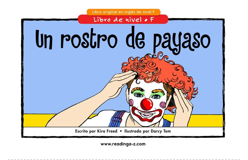 Book Preview For A Clown Face Page 1