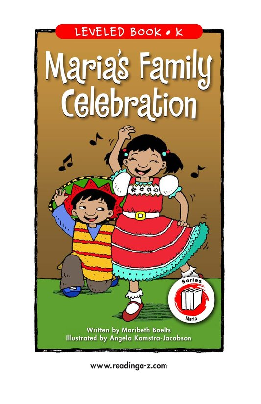 Book Preview For Maria's Family Celebration Page 1