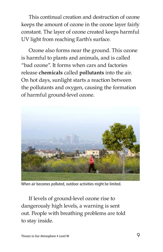 Book Preview For Threats to Our Atmosphere Page 9