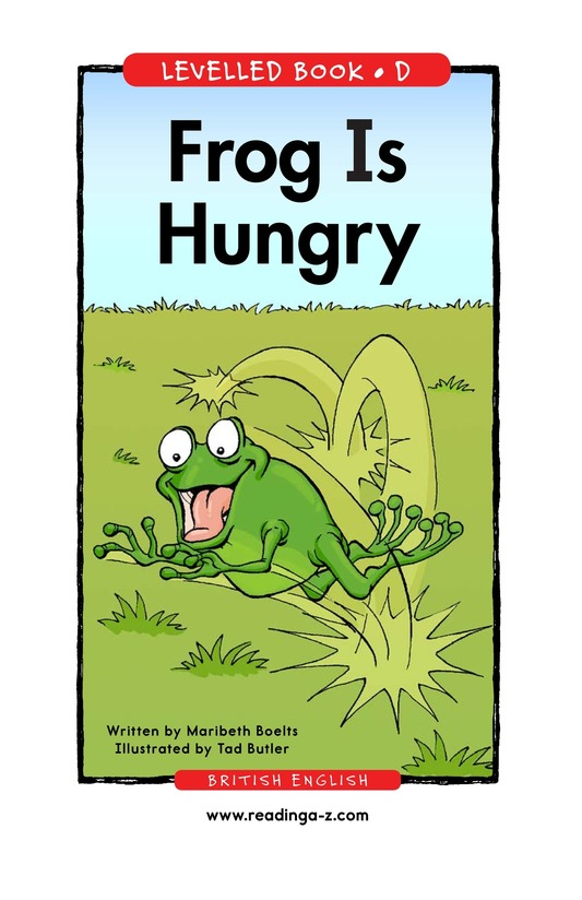 Book Preview For Frog Is Hungry Page 1