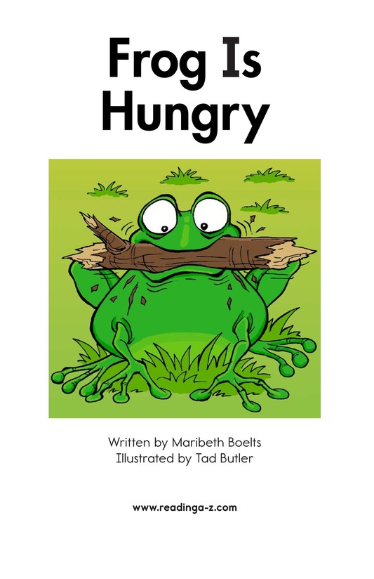 Book Preview For Frog Is Hungry Page 2