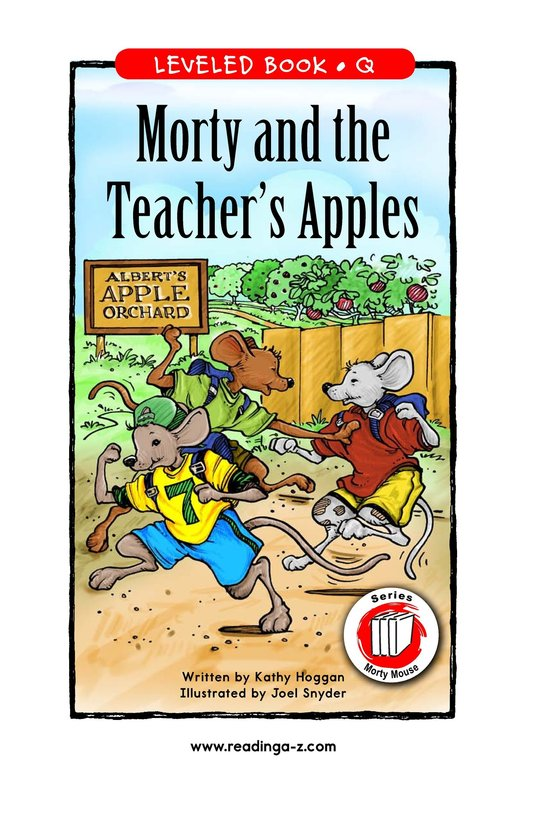 Book Preview For Morty and the Teacher's Apples Page 1