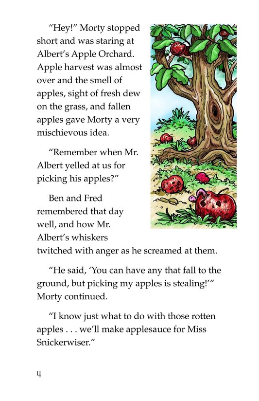 Book Preview For Morty and the Teacher's Apples Page 4