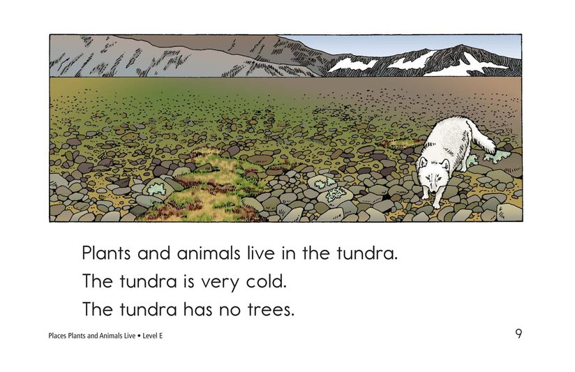 Book Preview For Places Plants and Animals Live Page 9