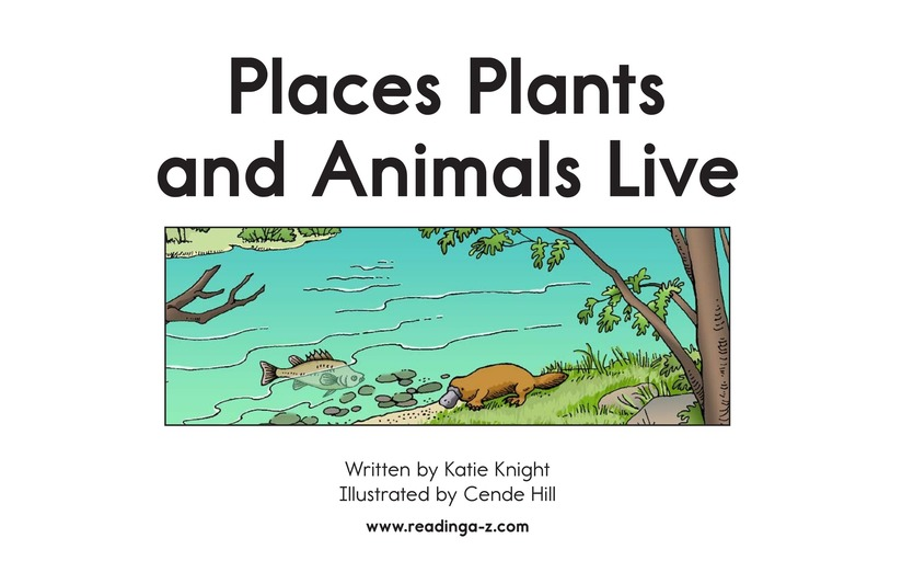 Book Preview For Places Plants and Animals Live Page 2