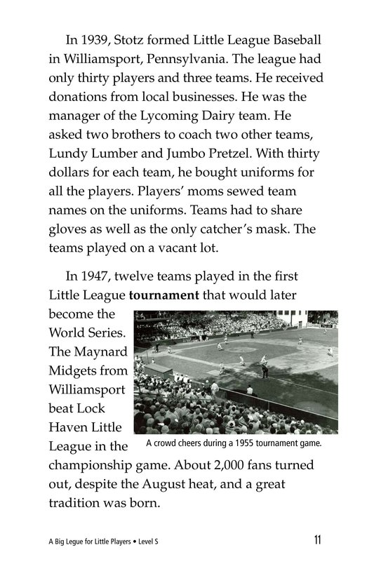 Book Preview For A Big League for Little Players Page 11