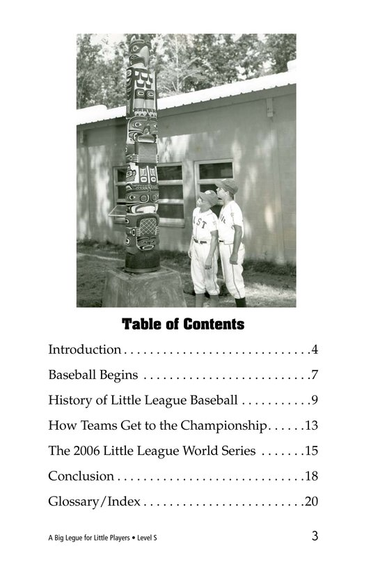 Book Preview For A Big League for Little Players Page 3