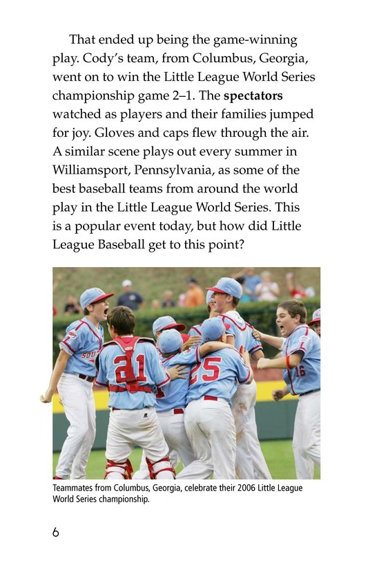 Book Preview For A Big League for Little Players Page 6