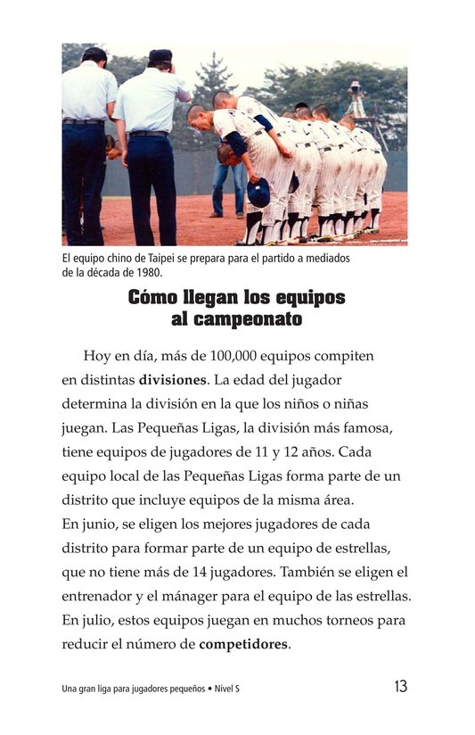 Book Preview For A Big League for Little Players Page 13