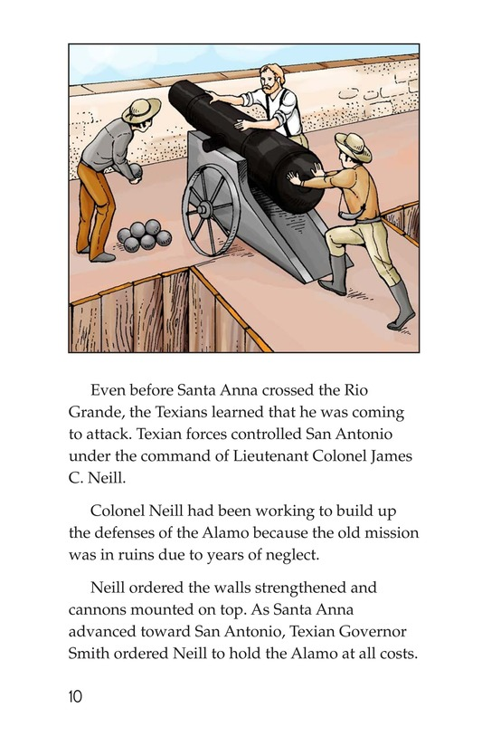 Book Preview For The Battle of the Alamo Page 10