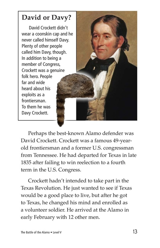 Book Preview For The Battle of the Alamo Page 13