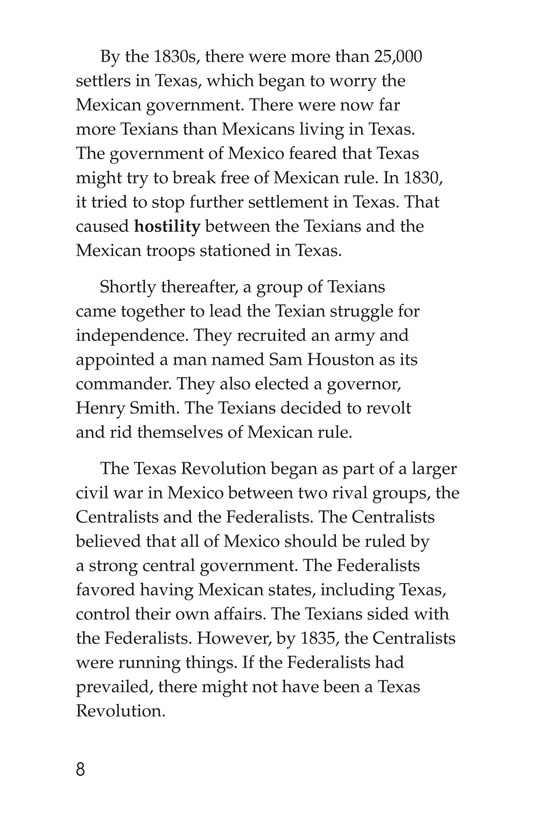 Book Preview For The Battle of the Alamo Page 8