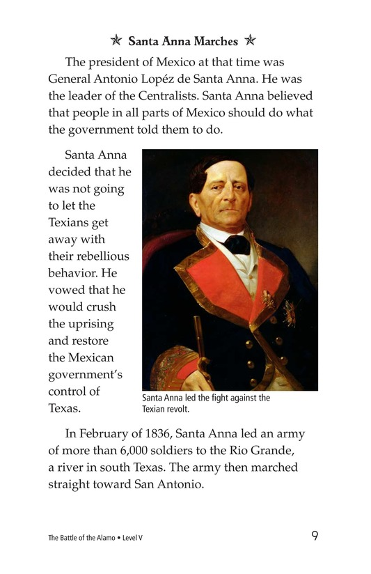 Book Preview For The Battle of the Alamo Page 9