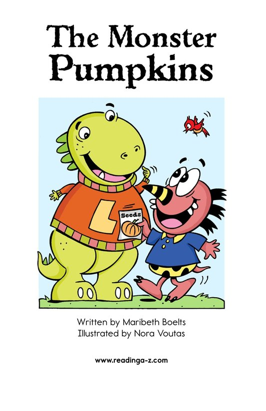 Book Preview For The Monster Pumpkins Page 2
